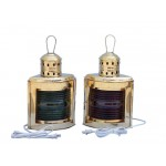 """Solid Brass Port and Starboard Electric Lantern 17"""""""