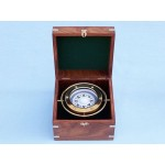 Solid Brass Gimble Compass w/ Rosewood Box 6""