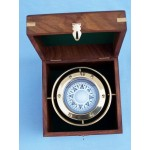Solid Brass Gimbal Compass w/ Rosewood Box 4.5""