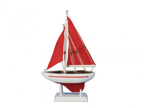 Pacific Sailer Red - Red Sails 9""