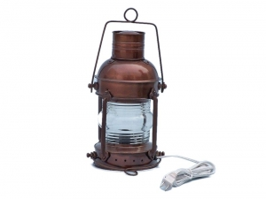 Antique Copper Anchormaster Electric Lantern 15""