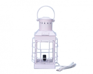 """Iron Chief's Electric Lamp 19"""" - White"""